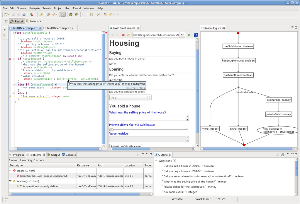 QL-R IDE integration demonstration